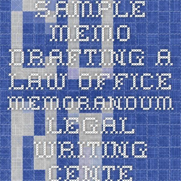 law office memorandum sample