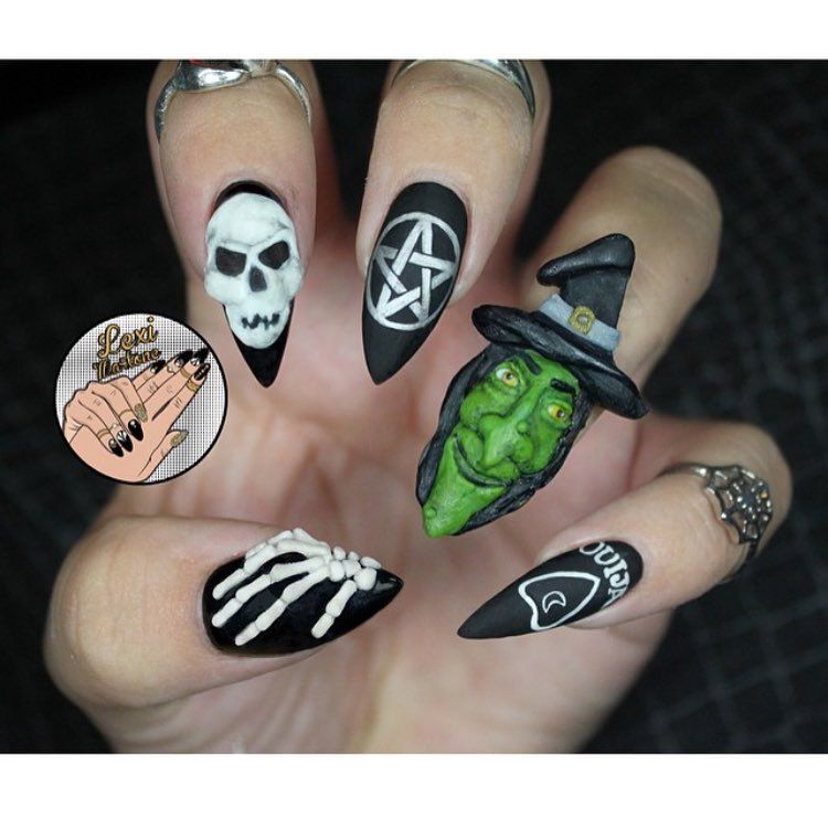last years Salem nailssss.. gotta figure out something for this year.. #throwbacksaturday