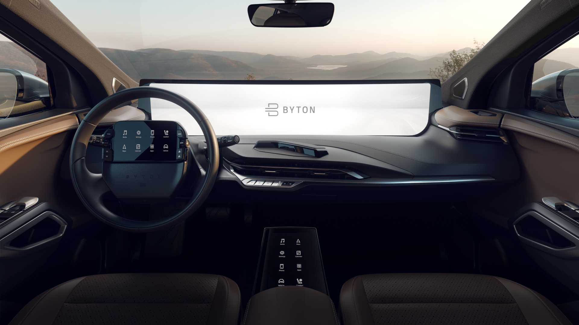 Byton Has Added Yet Another Screen To Its Upcoming All Electric M Byte Suv With Images Tesla Car Electric Cars