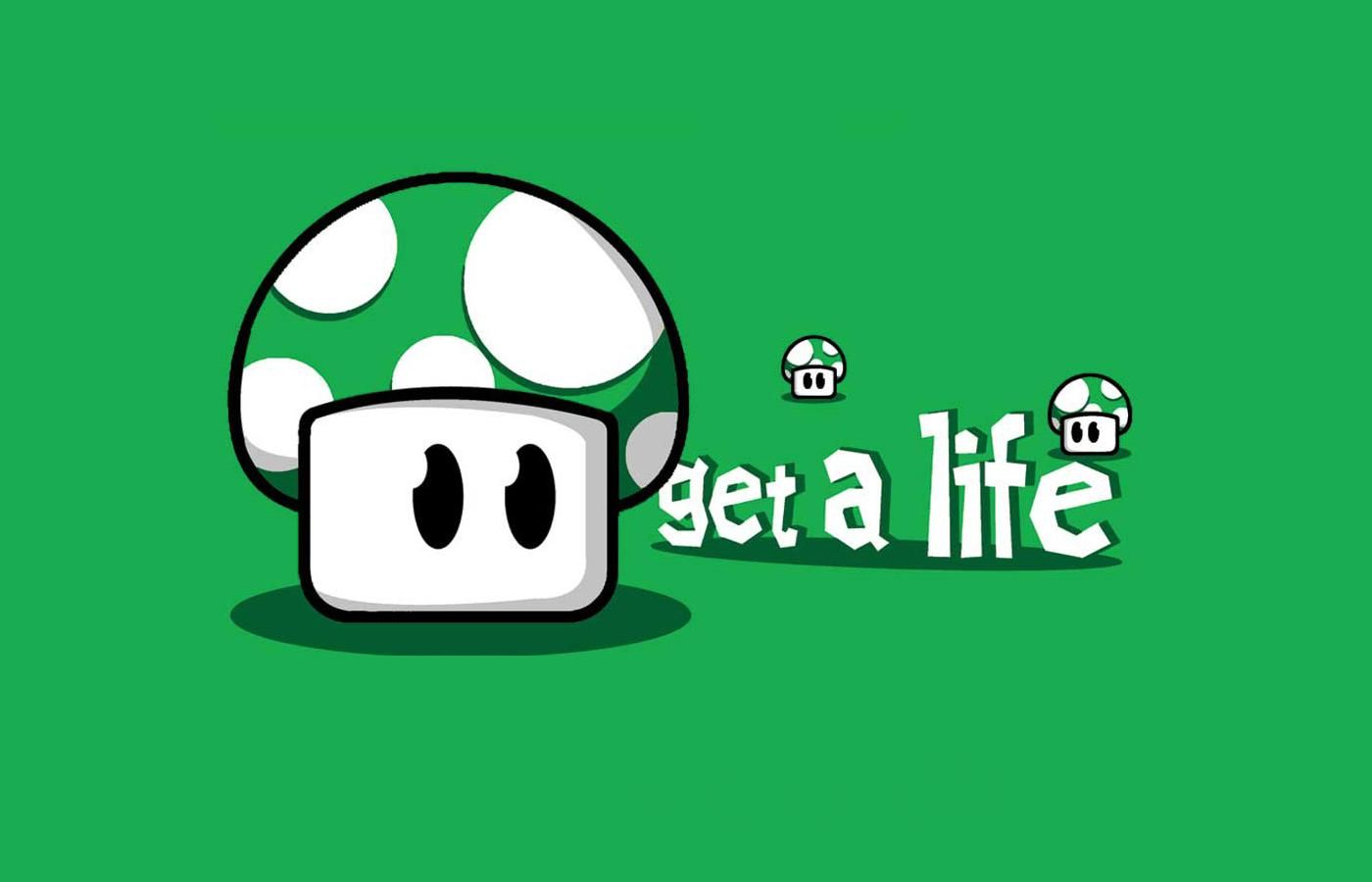 Pics photos hd wallpapers epic desktop s - Image Detail For Get A Life 1up Green Mushroom Hd Wallpapers Epic Desktop Backgrounds