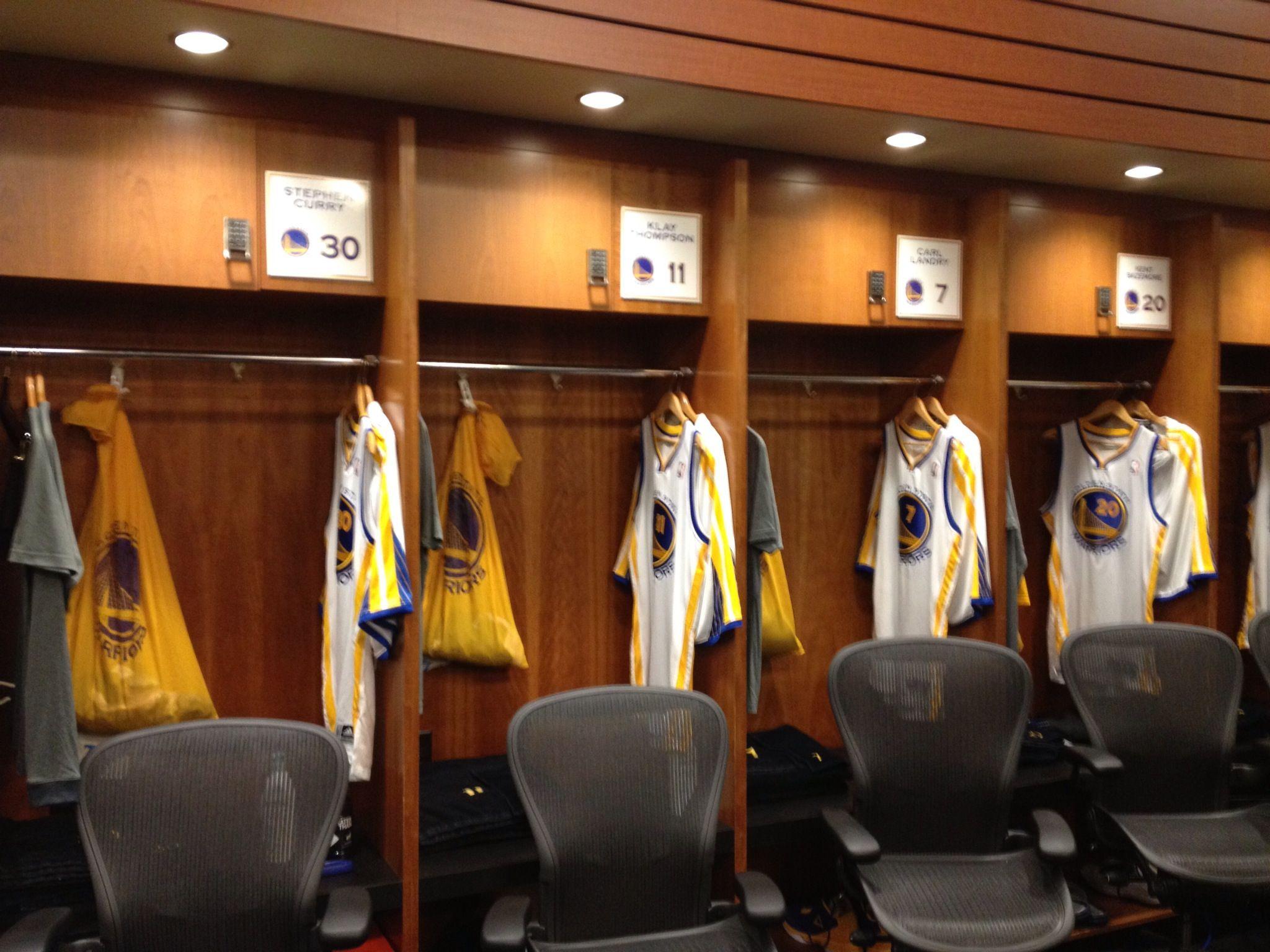 Warriors locker room...\
