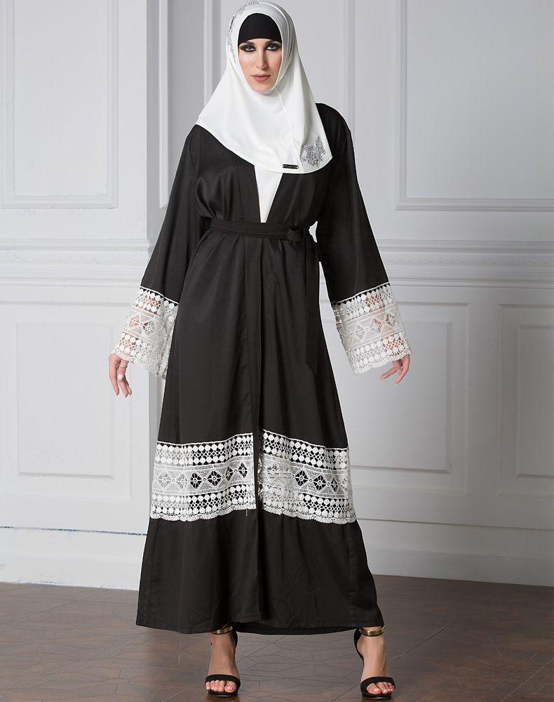 9f3738941b ... on Muslim Dresses by Fashion. US$ 17.56 2017 Hot Sale Muslim Women Long  Sleeve Dubai Black Abaya Woven Patchwork Long