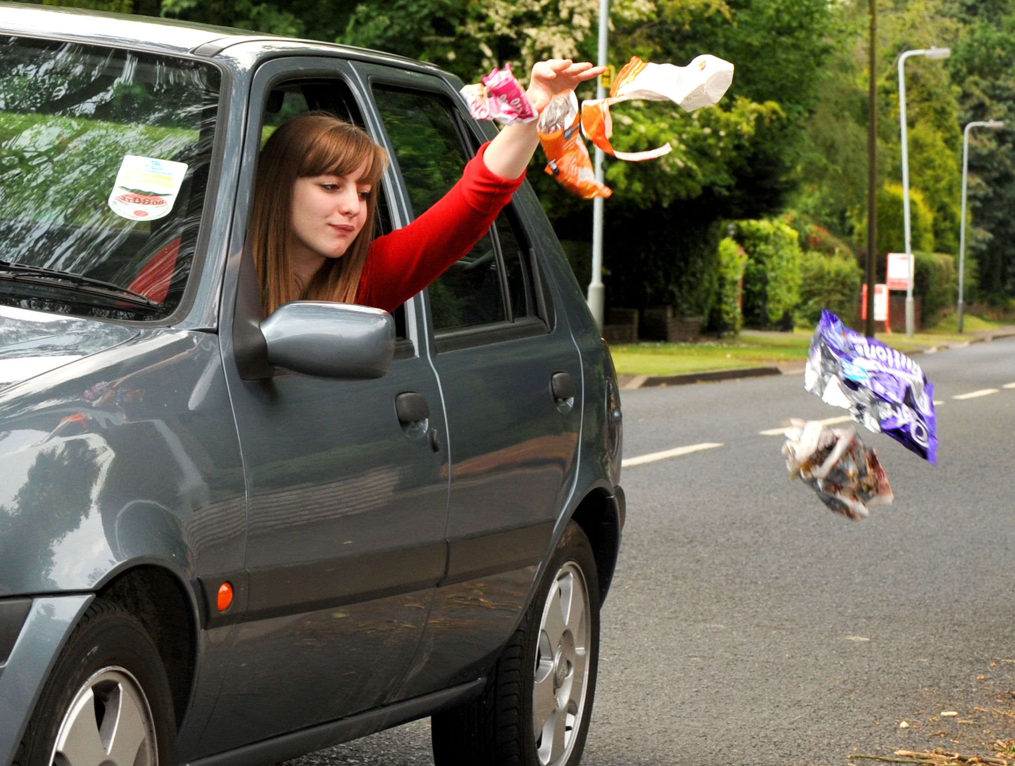I hope her car is clean! :(