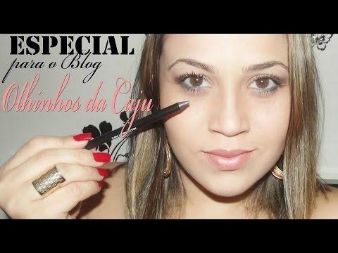 Fique Mais Linda: Especial para o BLOG Olhinhos da Caju (Maquiagem de Verão para Olhos Castanhos)