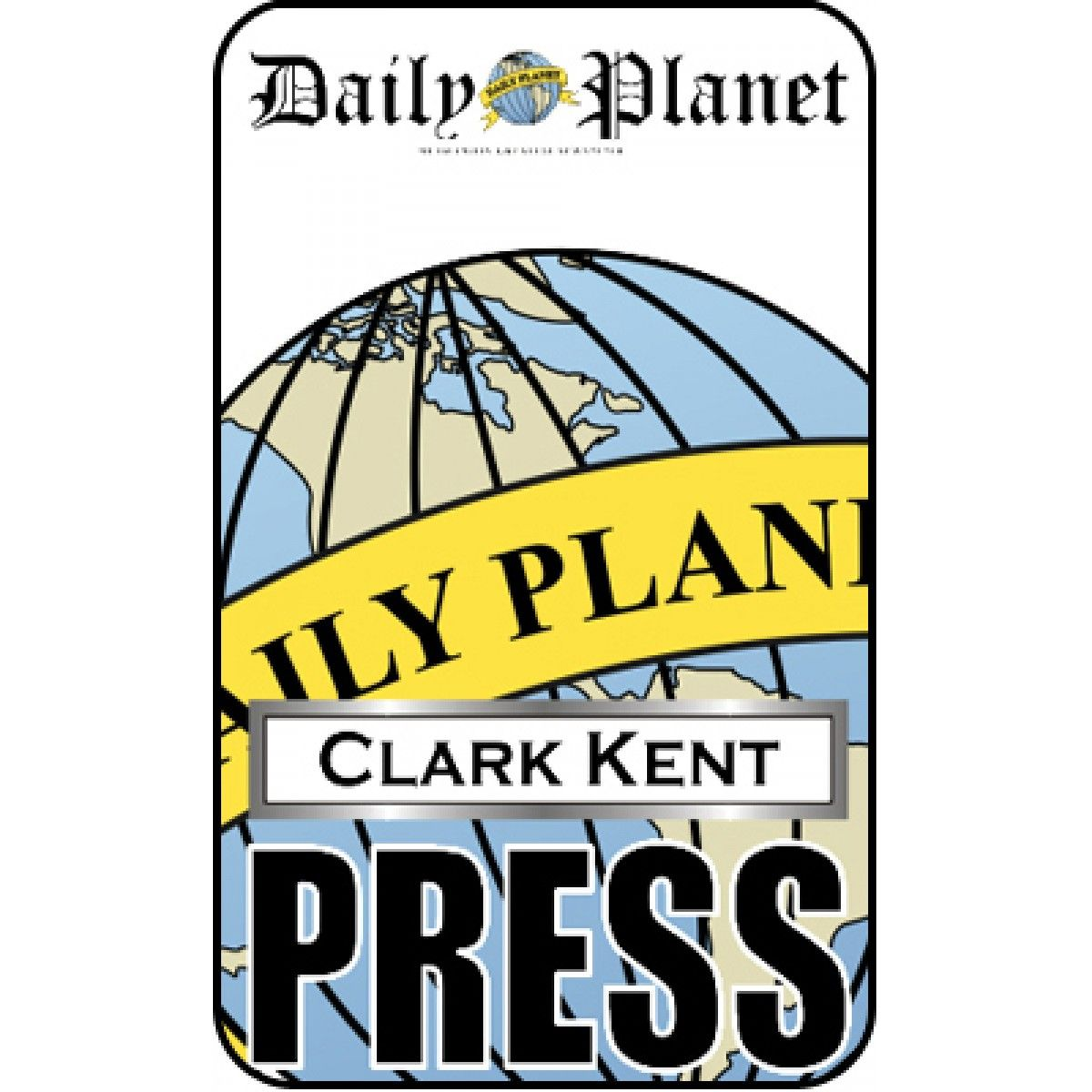 Clark kent press pass daily planet halloween pinterest for Media press pass template