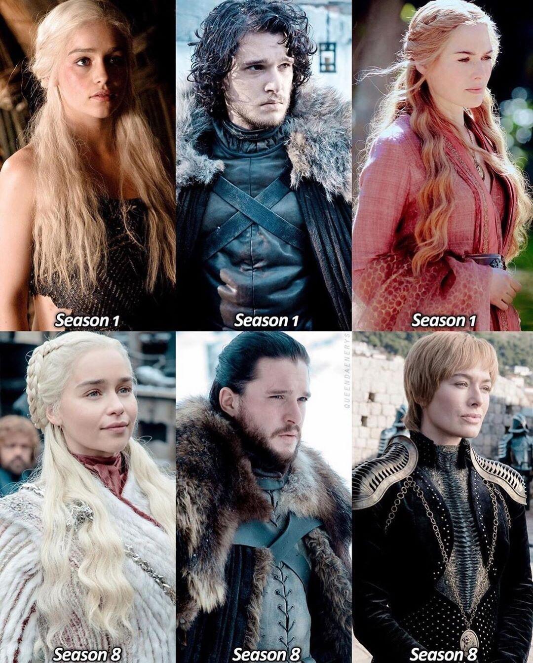 "Game of Thrones on Instagram ""Season 1 Season 8 🔥 Who"