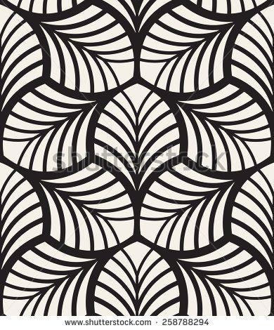 Vector Seamless Pattern Monochrome Graphic Design