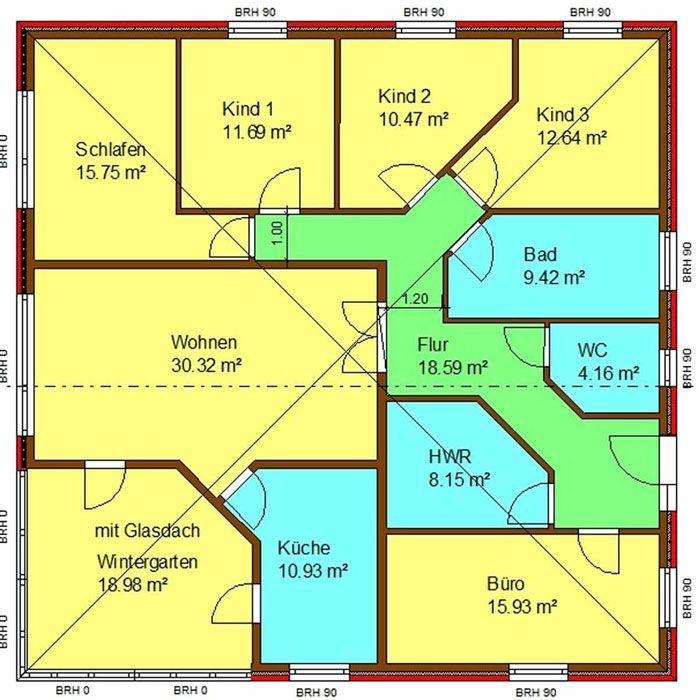 Grundriss bungalow 5 zimmer  Haus-Bild: Grundriss hier mit Wintergarten | Just house plan ...
