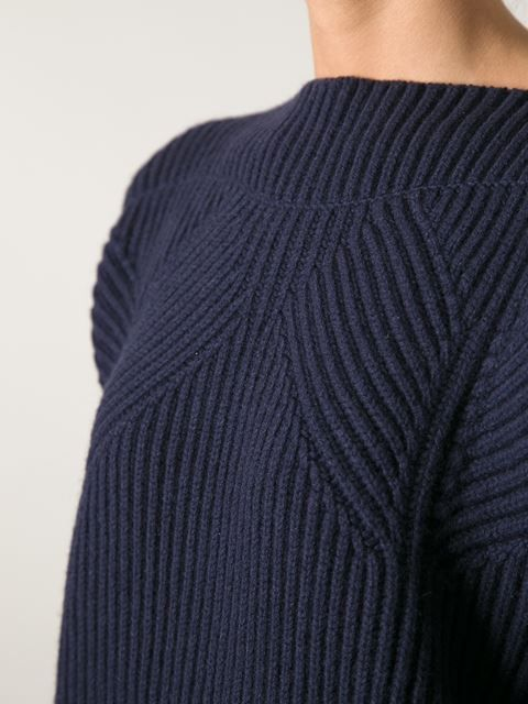 Shop Jil Sander ribbed oversize sweater in Biedermann En