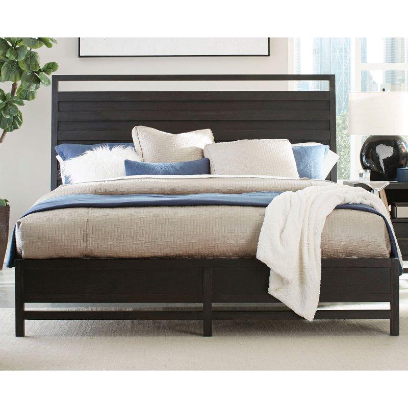 Modern Black Queen Platform Bed Thomas