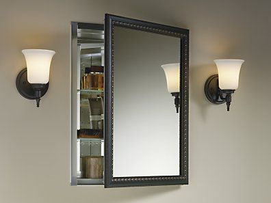 KOHLER, 20 In. Recessed Or Surface Mount Mirrored Medicine Cabinet In Oil  Rubbed Bronze, At The Home Depot   Mobile