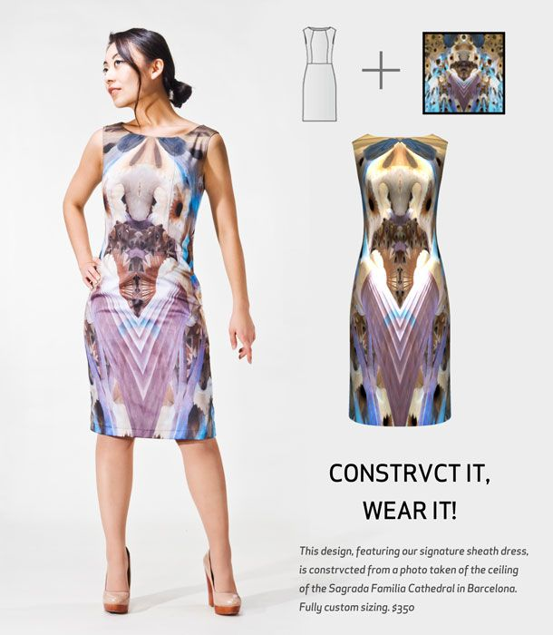 CONSTRVCT - Design own dresses from a 3D design of your photos #fashion #tech