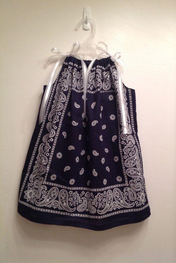 Custom Boutique Bandana Pillowcase Dress / Top by AandEgirls