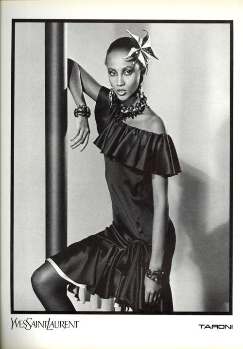Iman abdulmajid by david bailey for yves saint laurent for Miroir yves saint laurent