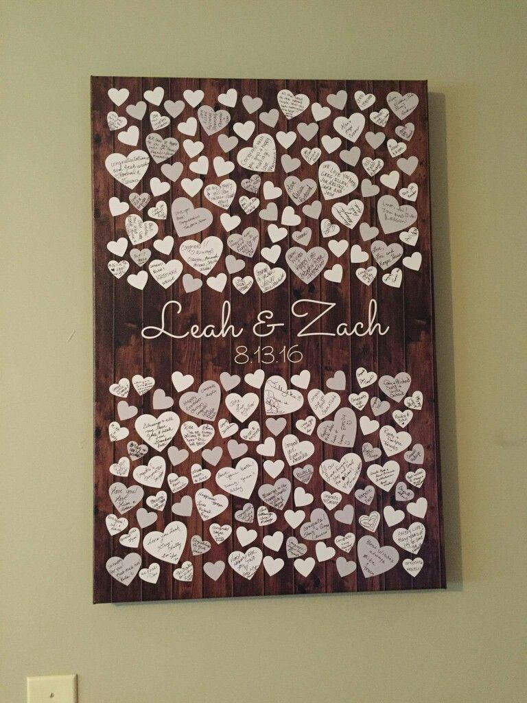 Such a sweet idea for a guest book! Made by: Peachwik