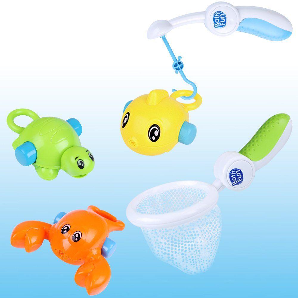 Iplay Ilearn Bath Hook Fish Toys Kids Water Play Set