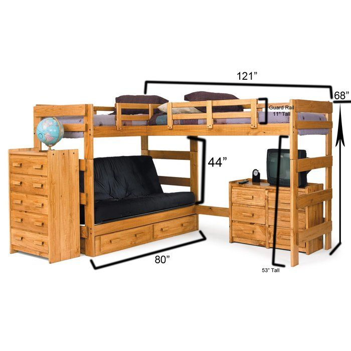 Twin Over Full L Shaped Bunk Bed Bunk Bed With Desk L Shaped Bunk Beds Bunk Beds With Stairs