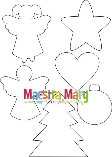 Disegni Di Natale Maestra Mary.Sagome E Disegni Di Natale Natale Natale Sagome E Disegni