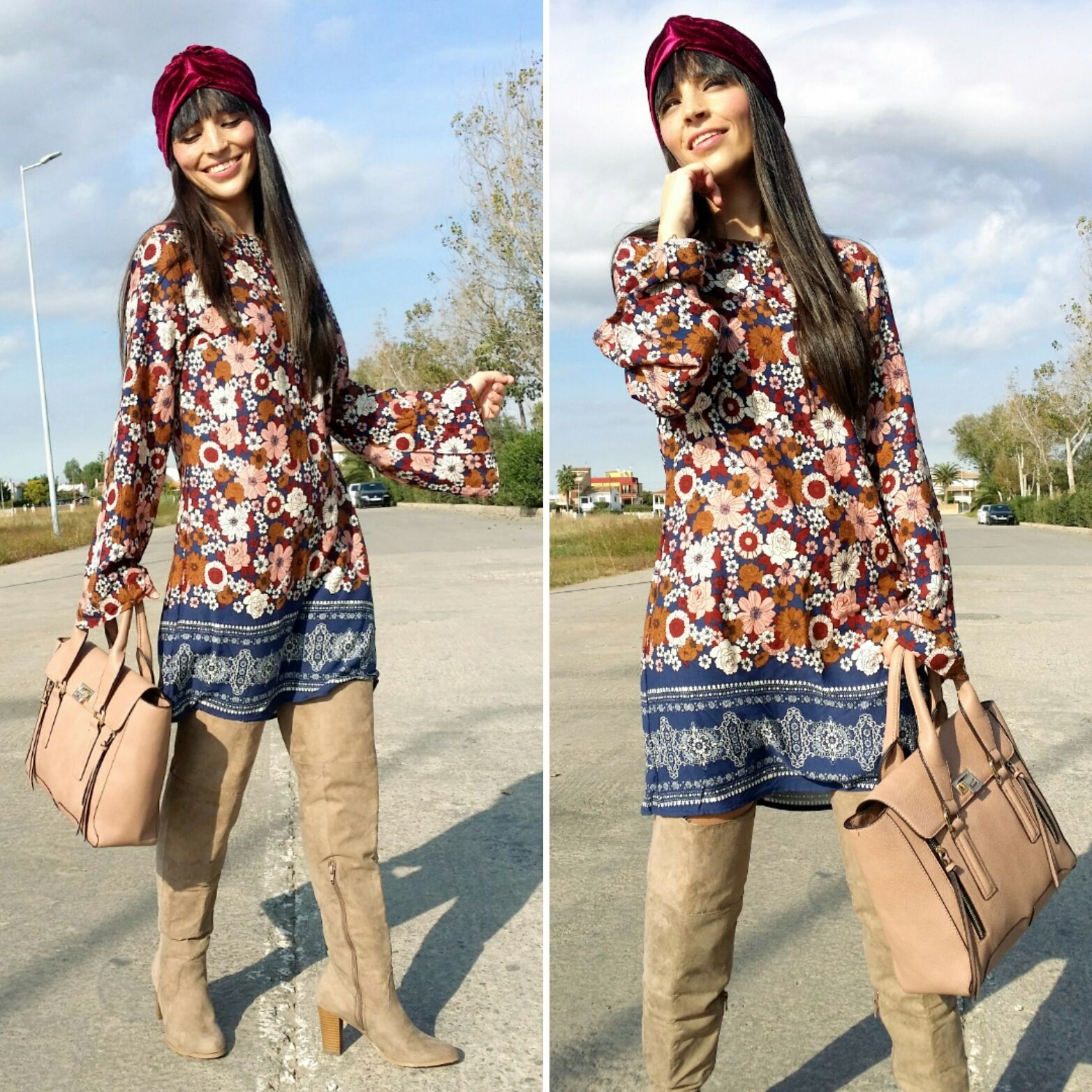 turbante velvet - Temporada: Otoño-Invierno - Tags: look, ootd, fashion, moda, stardivariusblog, blogger - Descripción: look boho