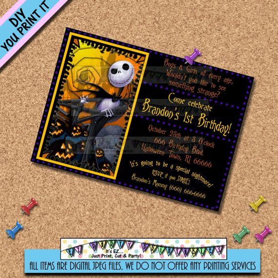 Nightmare Before Christmas Birthday By Ezpartyprintables On