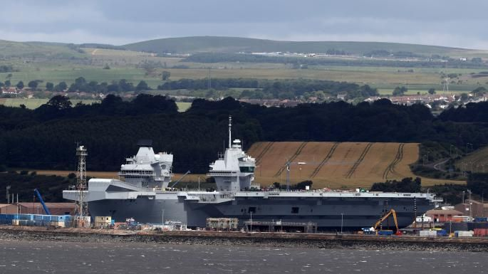Hms Queen Elizabeth Will Leave The Dockyard At Rosyth In Scotland And After Further Checks Will Be Handed Over To The Navy At Portsmouth Andrew Milligan Press