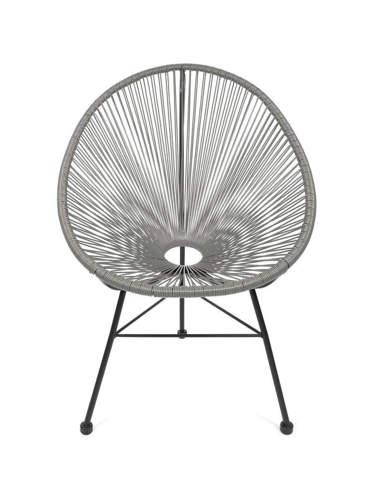 Design Klassiker Möbel acapulco stuhl chair sessel grau design klassiker möbel