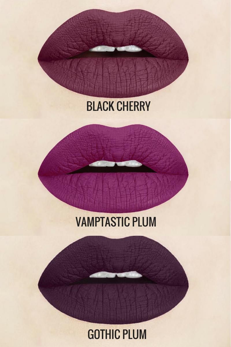 Matte Lipstick Goth Black Purple