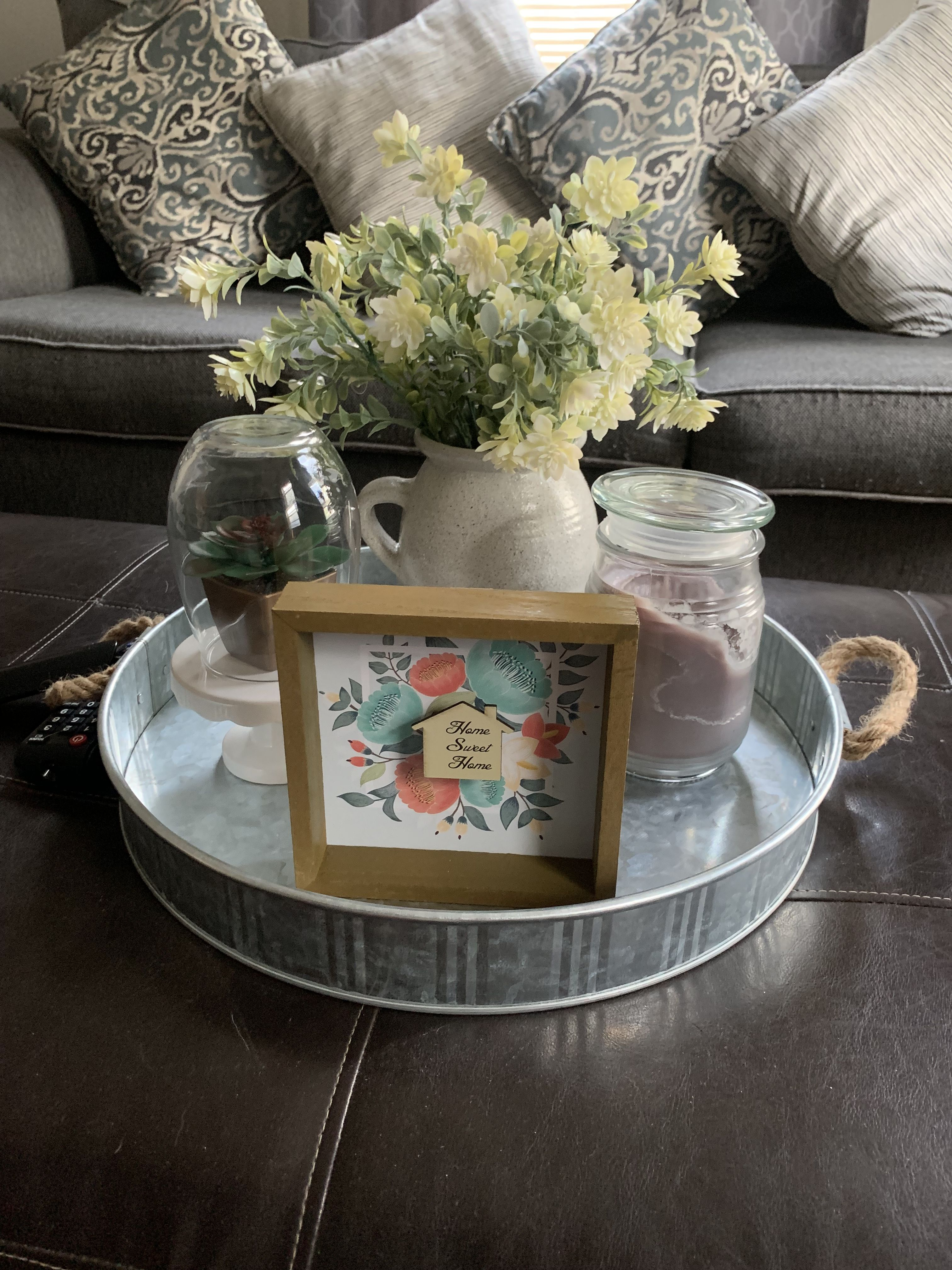 DIY cloche with target dollar spot cake stand, dollar tree