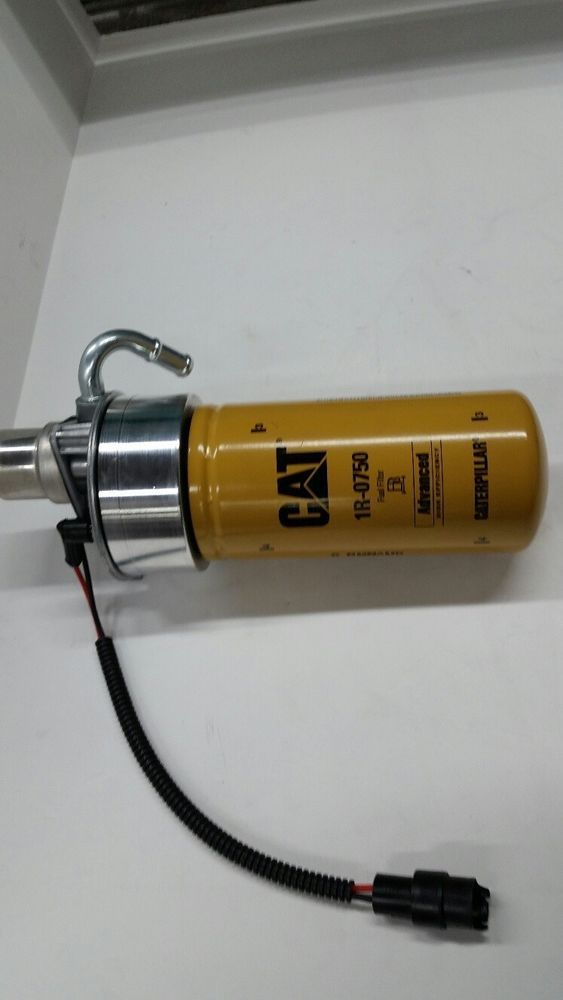 duramax billet fuel filter adapter cat 1r-0750 #trp