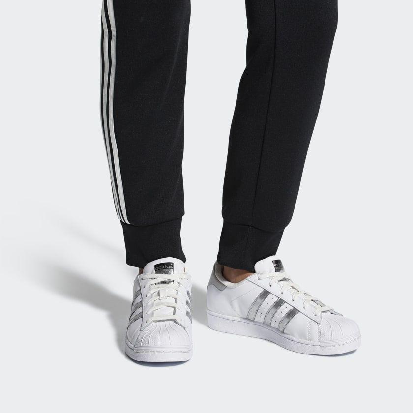 Adidas Superstar White Core Black White Adidas Shoes