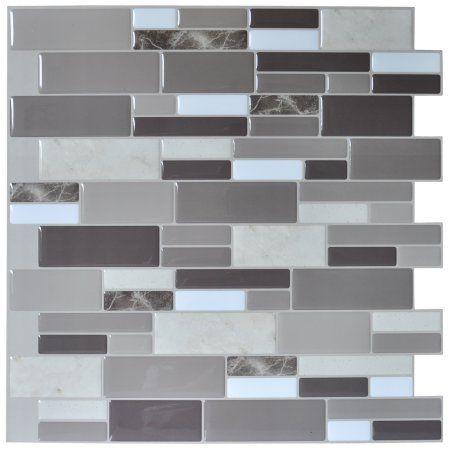 Art3D Peel & Stick Brick Kitchen Backsplash Selfadhesive Wall Interesting Kitchen Wall Tile Design Decoration