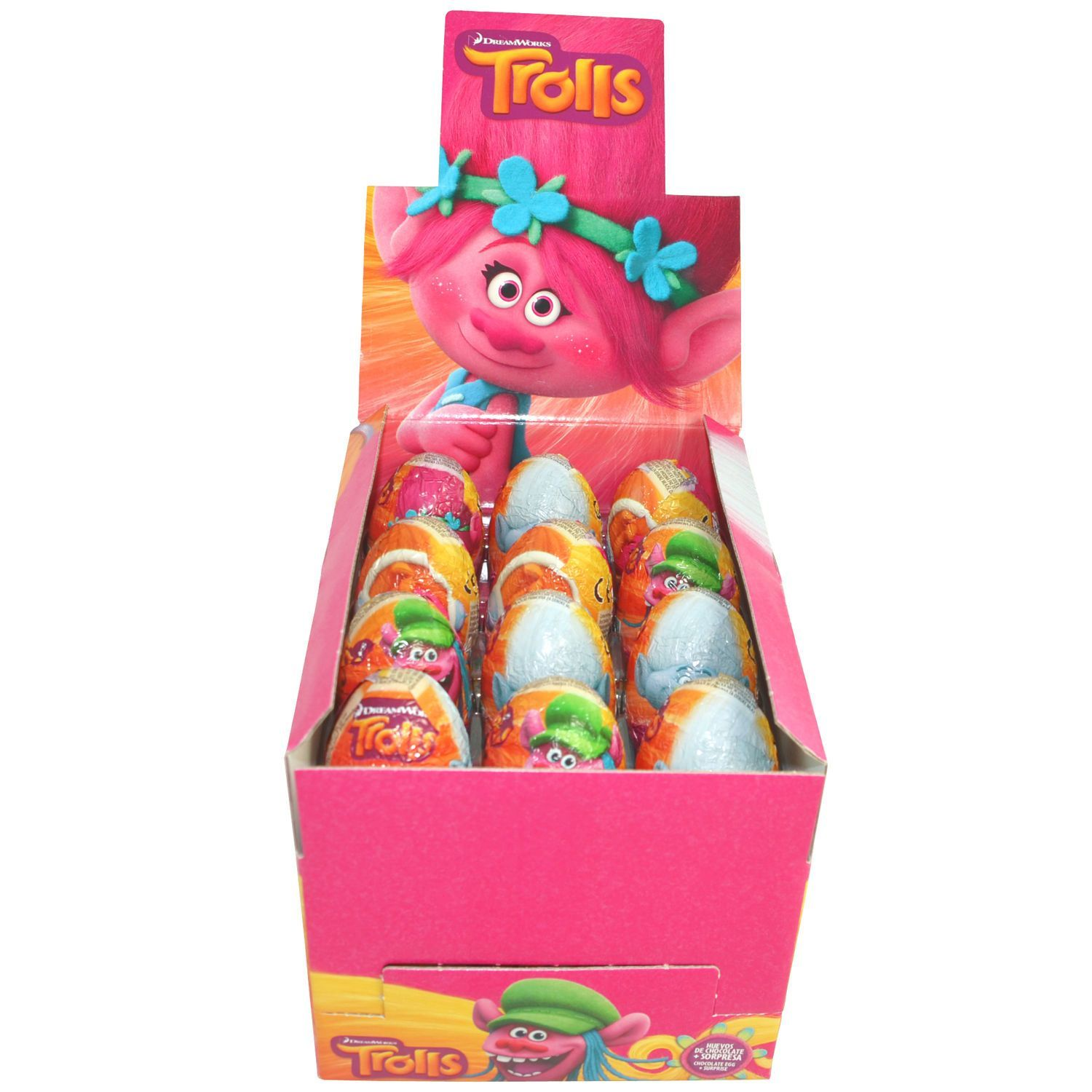Chocolate Surprise Eggs TROLLS with theme related toys inside ...