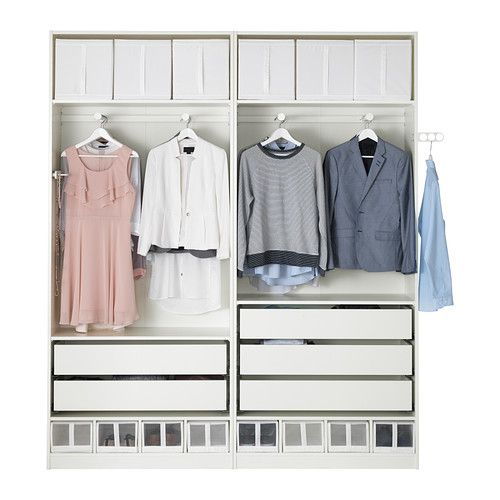 ikea pax armoire penderie blanc largeur 200 cm. Black Bedroom Furniture Sets. Home Design Ideas