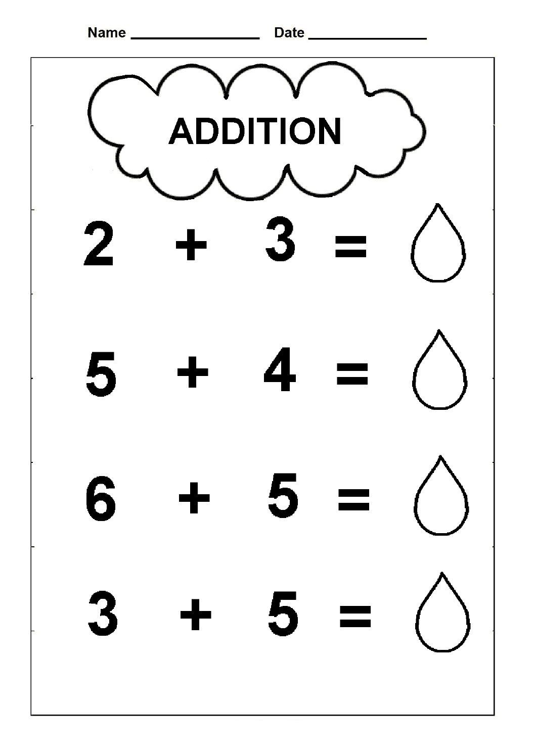 Free Printable Simple Addition Worksheets For Kids {PDF