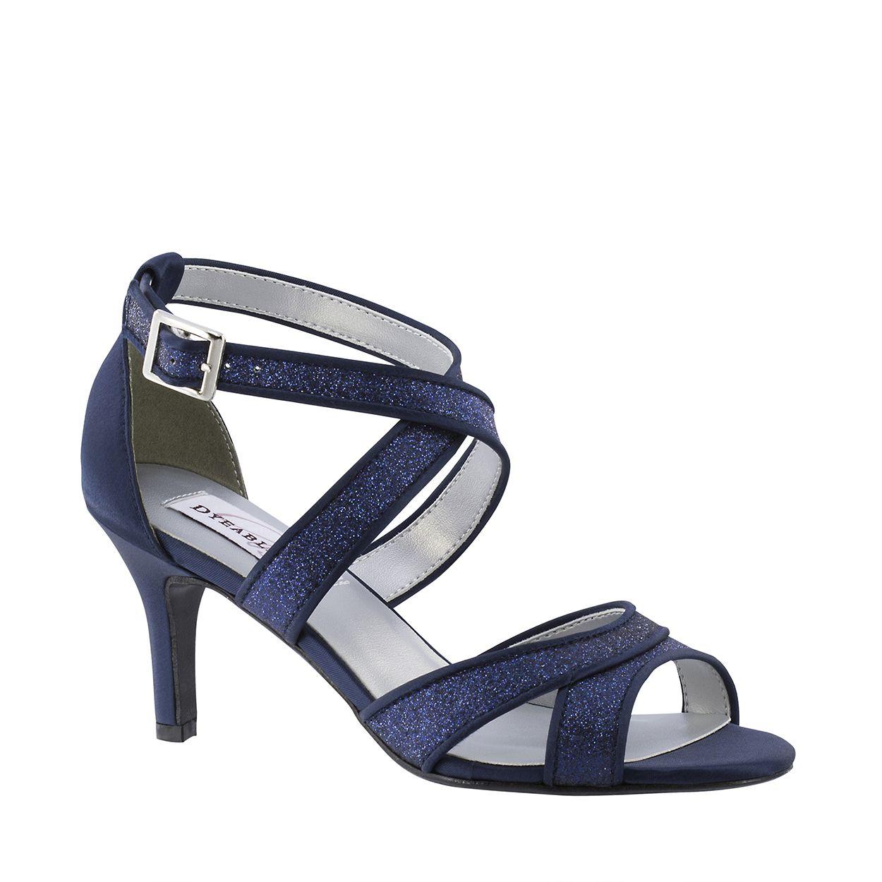 Amber Navy Glitter | Bridal sandals