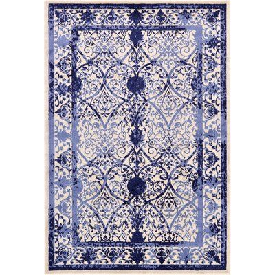 Mistana Chel Blue Indoor Outdoor Area Rug Size 6 X 9 Rugs Areas And