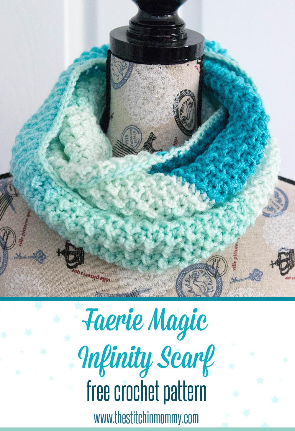 Faerie Magic Infinity Scarf Free Crochet Pattern Free Crochet