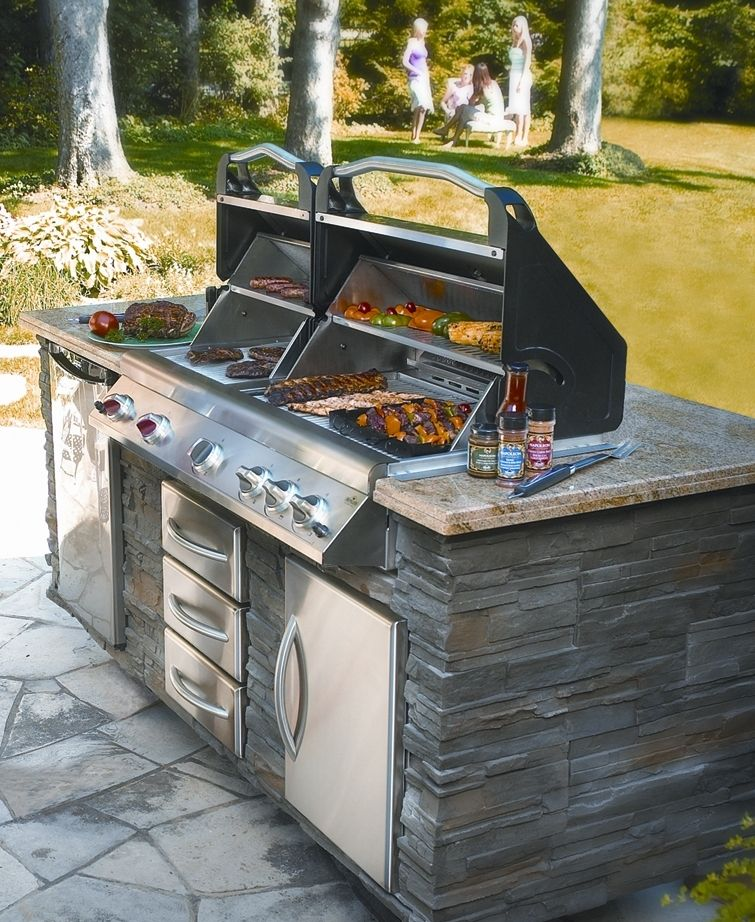 Safe Places To Travel Outside Us: 4-vertical Bbq Island