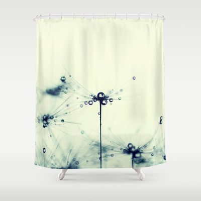 Dandelion Shower Curtain By Ingrid Beddoes Curtains Shower Curtain Small Bathroom