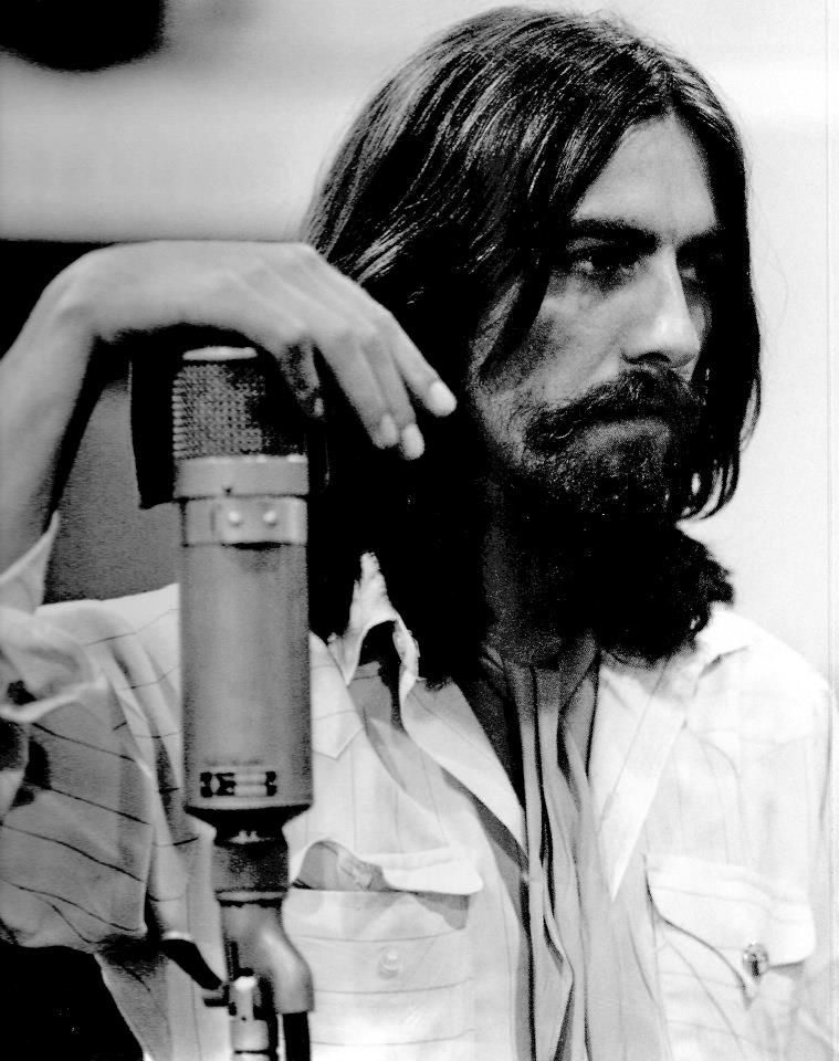 The Beatles Abbey Road Recording Session 1969 George Harrison Mixing Photos From Last As A Group