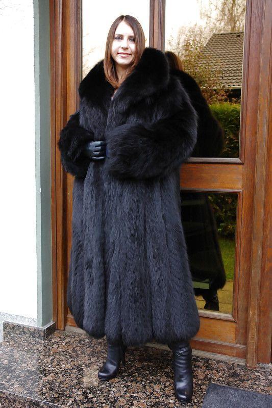 19922f130 Image result for black fox fur coat | Dyed Fox Furs 2 | Fur, Fox fur ...