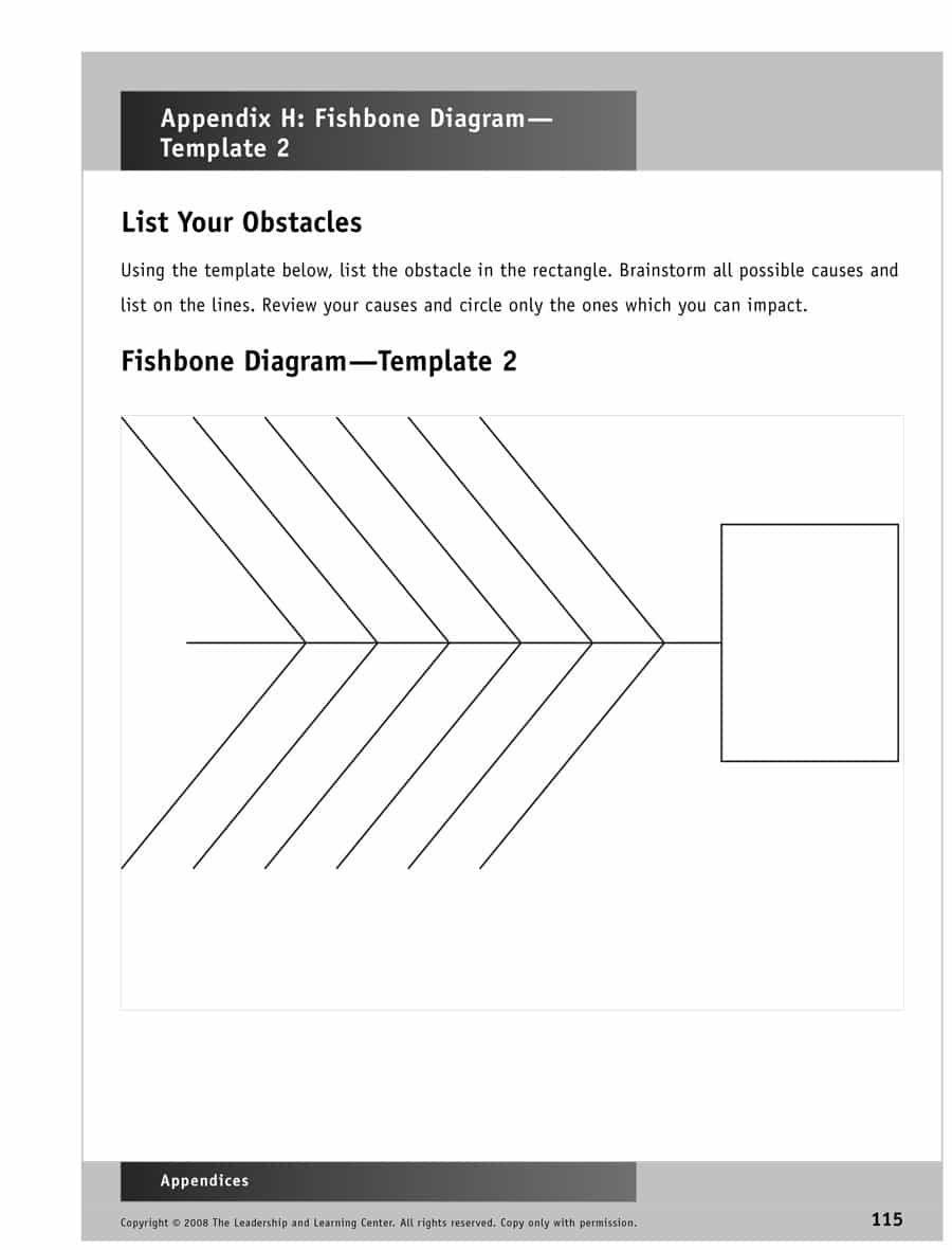 43 Great Fishbone Diagram Templates Examples Word Excel In Blank Fishbone Diagram Template Word Best Template Ideas Blank fishbone diagram template word