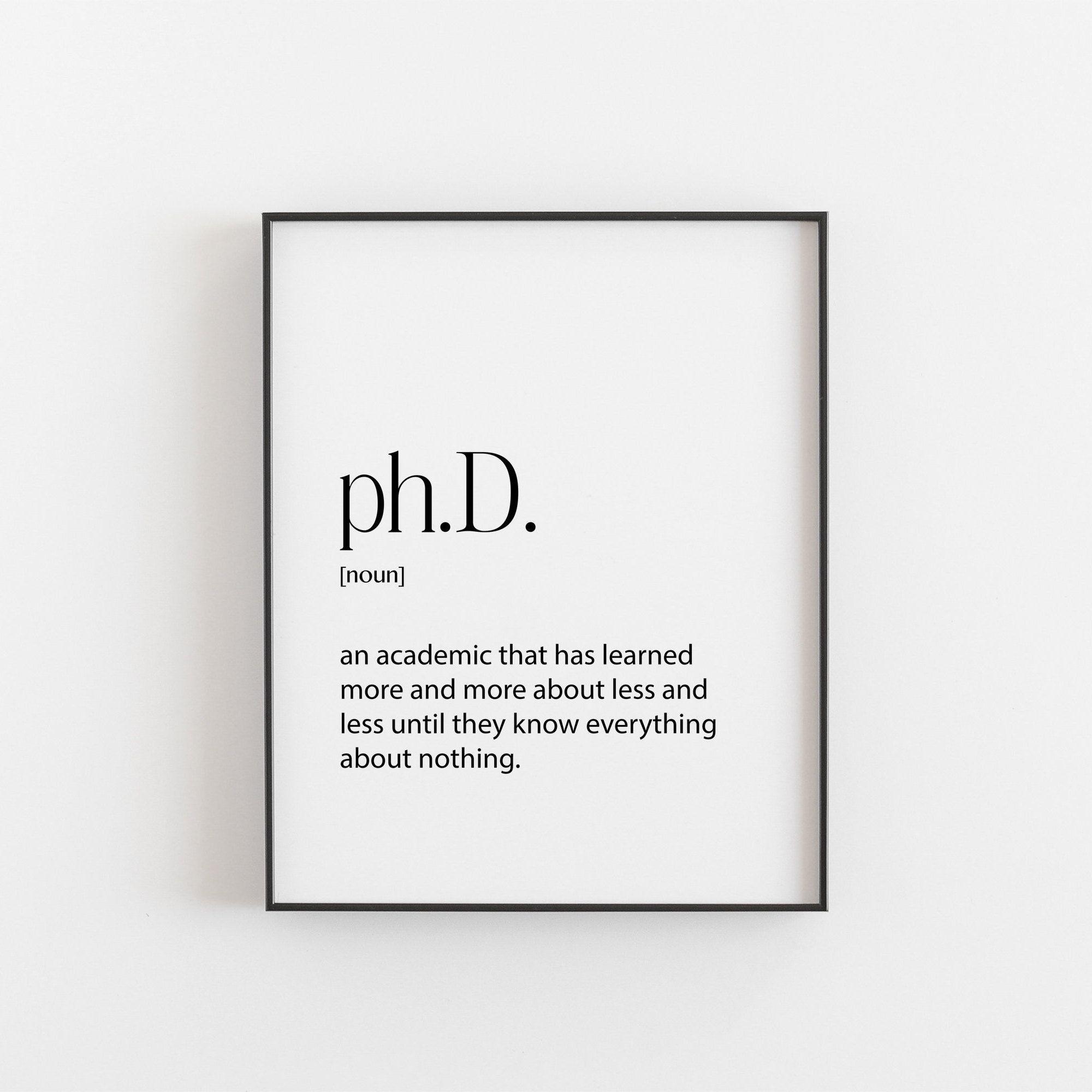 phd phd definition phd graduation gift doctorate graduation