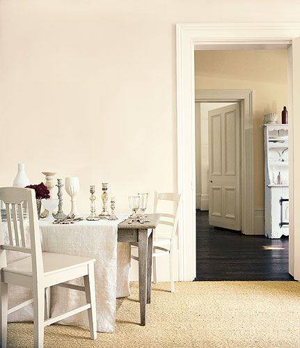 natural calico near wall (ivory room beyond), jasmine white on