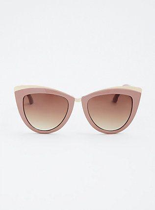 8f94287ce713b Plus Size Metal Wing Tip Cat Eye Sunglasses