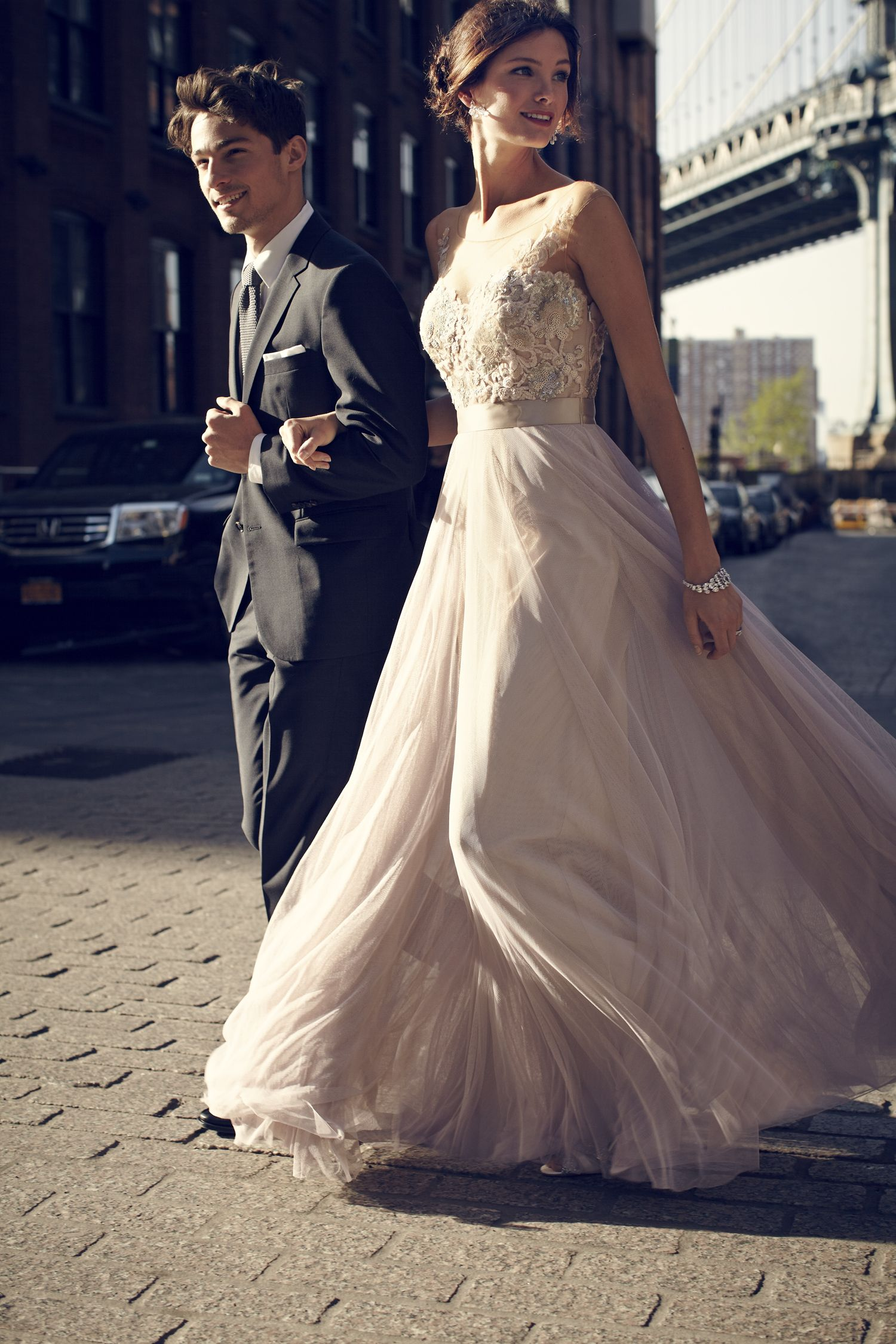 Long wedding reception dresses for the bride  The Grand Gown Contest  Lucca Gown by Watters for BHLDN  Knott