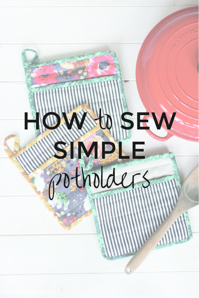 Learn How to Sew a Simple Potholder for Your Kitchen | Kleider nähen ...