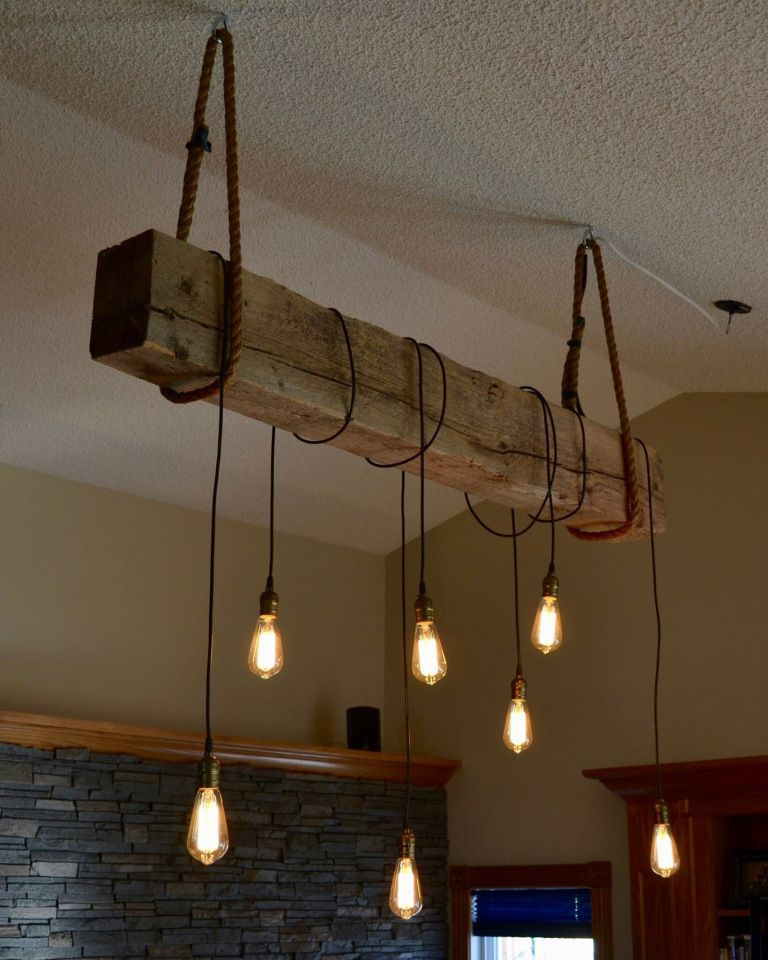 1930s Structural Beam Edison Bulb Light Fixture Project Bedroom