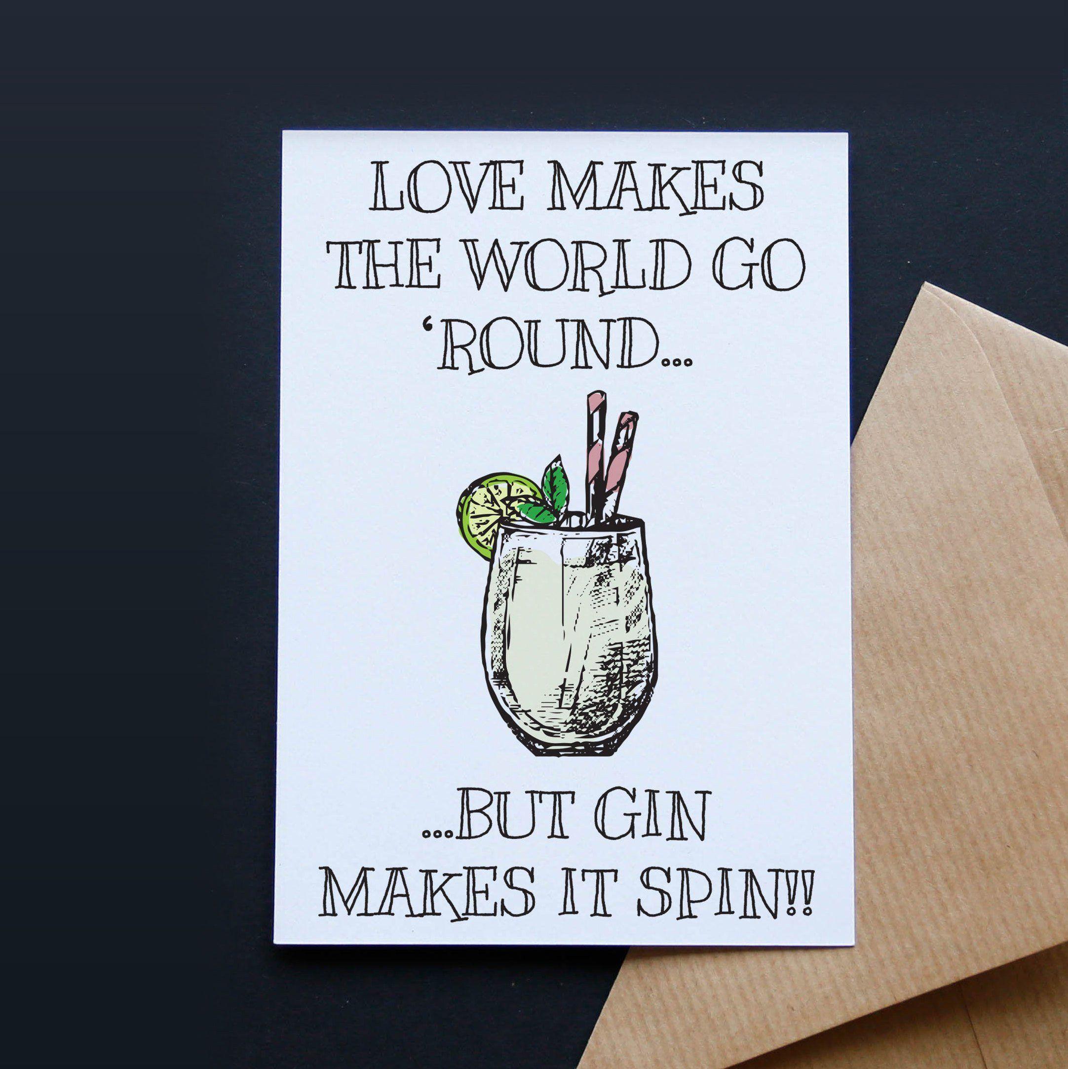 Gin Birthday Card Birthday Card Gin Gin Pun Birthday Card Etsy Birthday Cards For Friends Best Friend Birthday Cards Funny Birthday Cards
