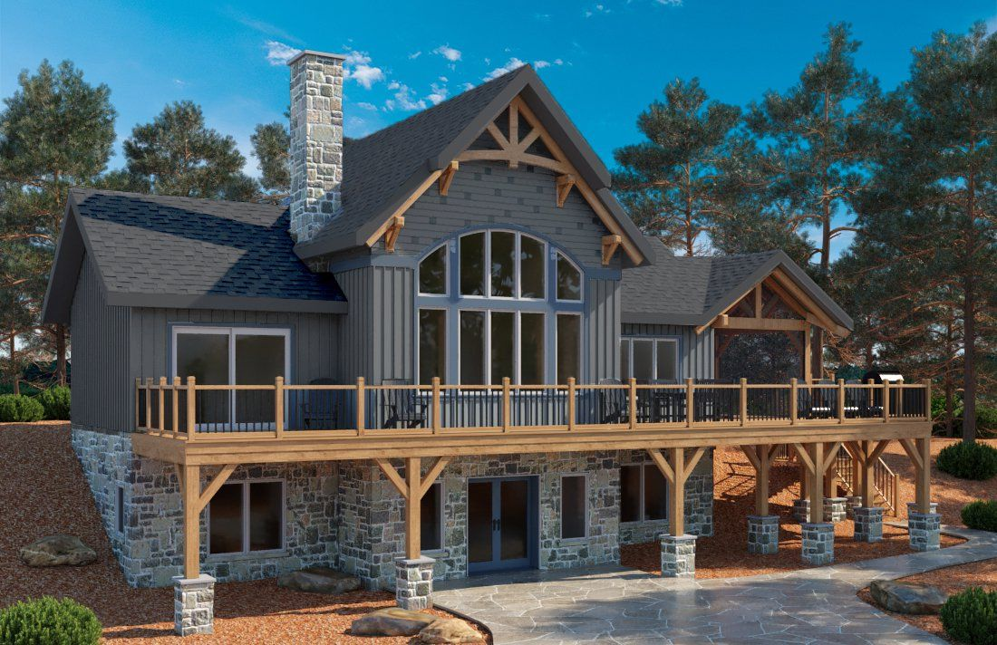 Thinking Of Building A Timber Frame Home Here Is A Special Offer For You Normerica Lake Houses Exterior House Plans Farmhouse Lake House Plans